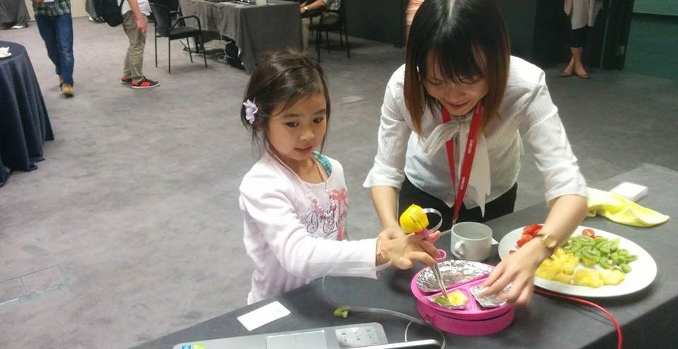 Interactive Training Chopsticks presented at ACE 2014