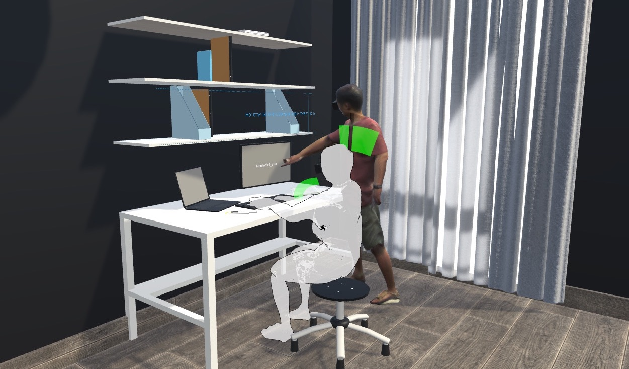 Interactive and Situated Guidelines to Help Users Design a Personal Desk that Fits Their Bodies